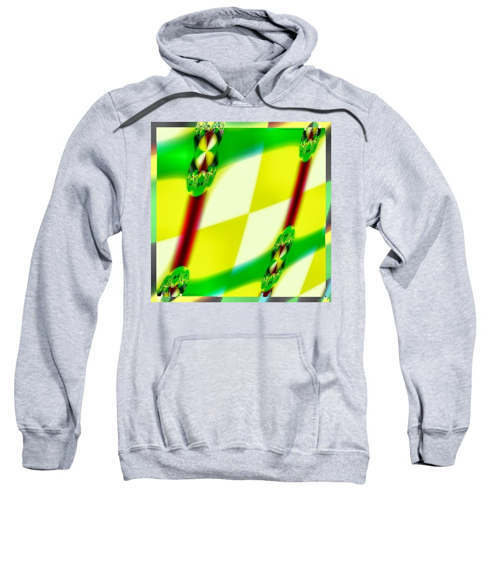 Yellow Sweatshirt featuring the digital art Tarron by John Holfinger
