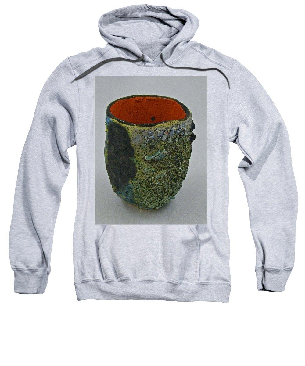 Tea Bowls Sweatshirt featuring the sculpture Tea Bowl #1 by Mario MJ Perron