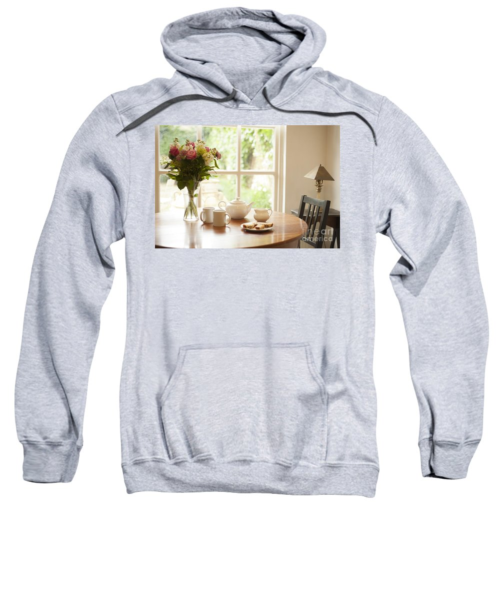 Area Sweatshirt featuring the photograph Tea For Two by Anne Gilbert