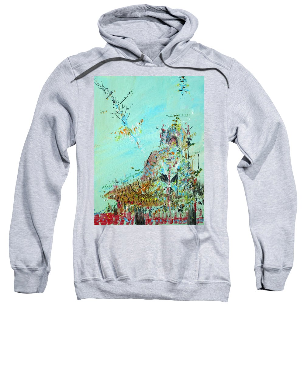 Temple Sweatshirt featuring the painting Temple by Fabrizio Cassetta