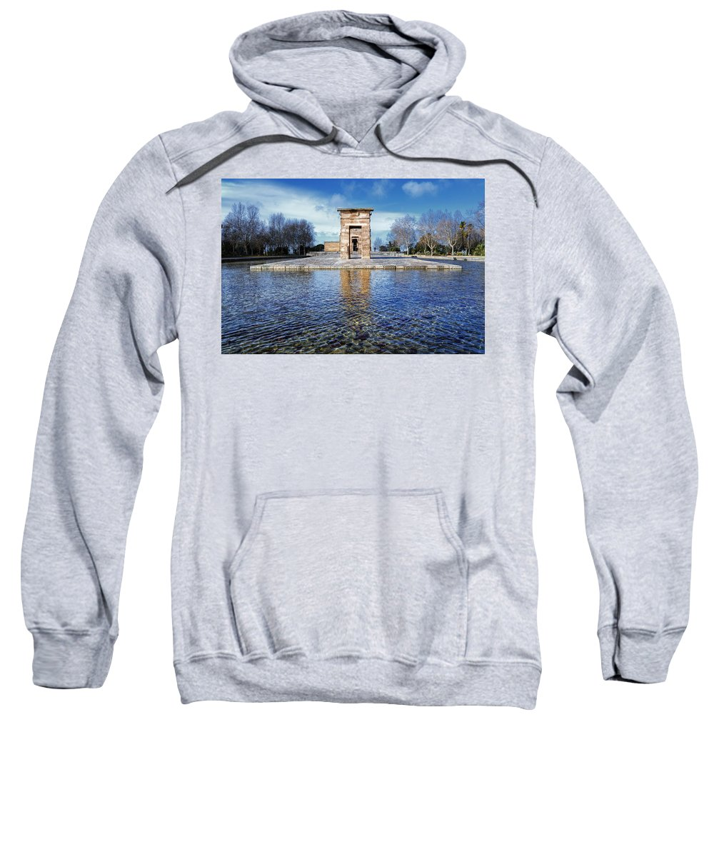 Arc Sweatshirt featuring the photograph Temple Of Debod by Joan Carroll