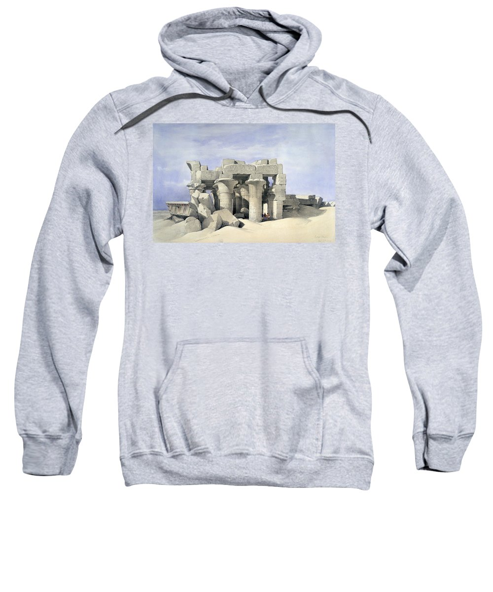 Temple On Nile Sweatshirt featuring the painting Temple On Nile by David Roberts