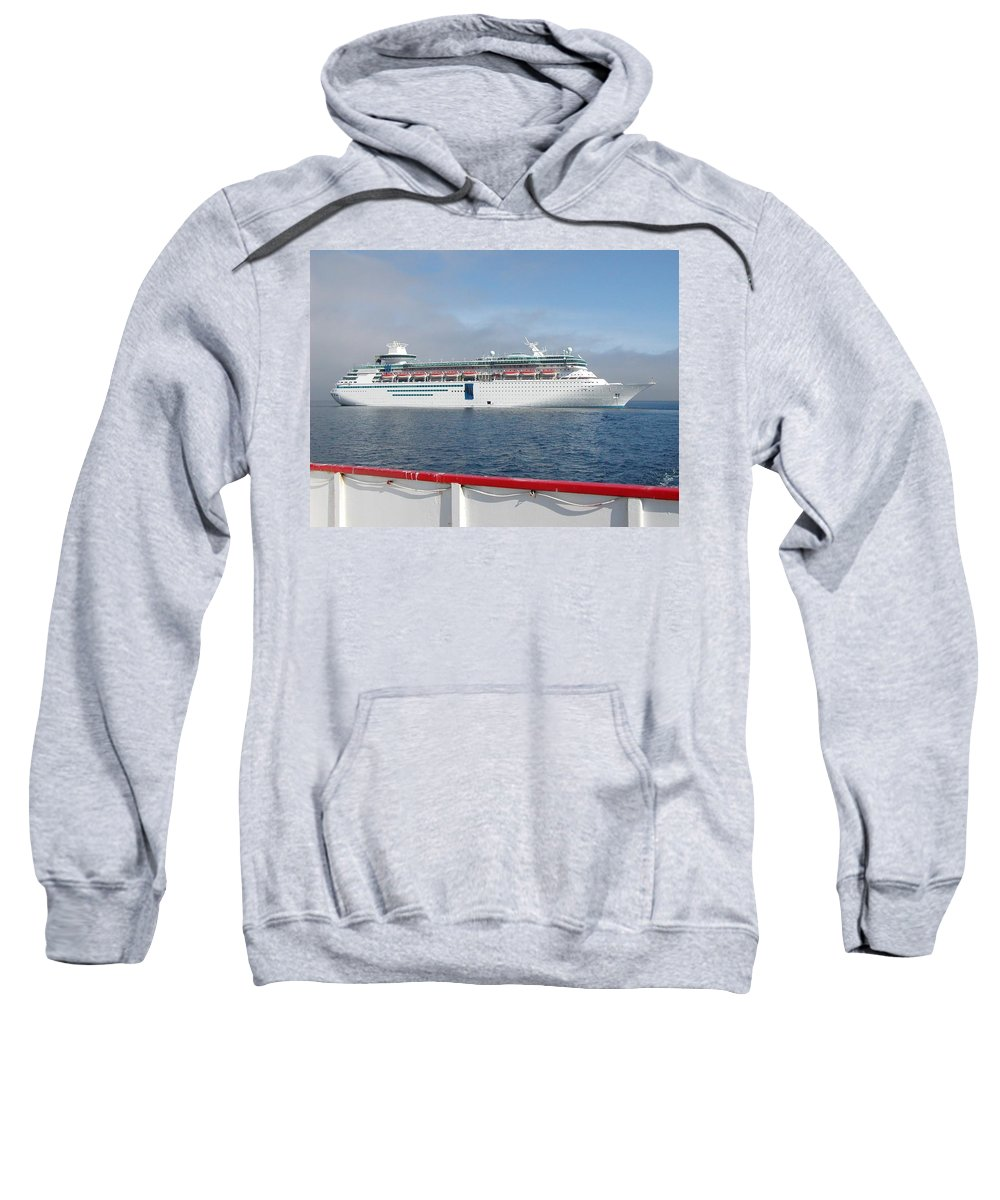 Cruise Sweatshirt featuring the photograph Tendered Ship by Scenic Sights By Tara