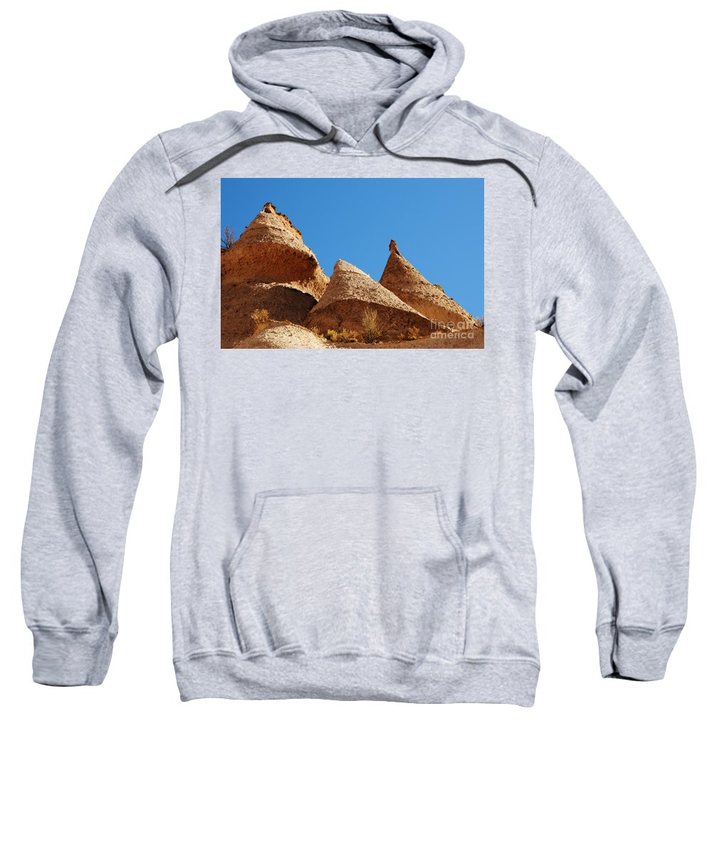 Kasha-katuwe Tent Rocks National Monument Sweatshirt featuring the photograph Tent Rocks Geology by Vivian Christopher