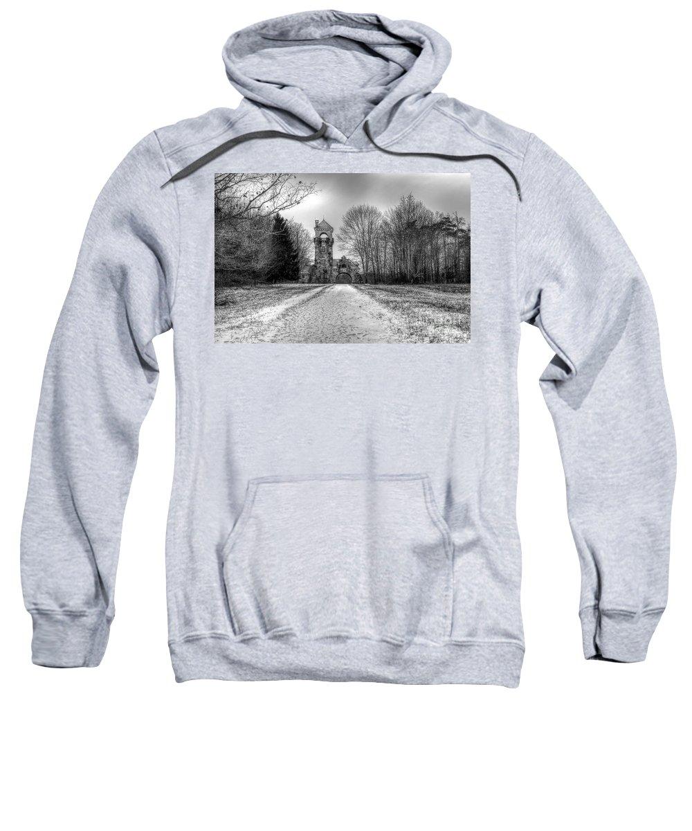 Testimonial Gateway Sweatshirt featuring the photograph Testimonial Gateway Tower by Rick Kuperberg Sr