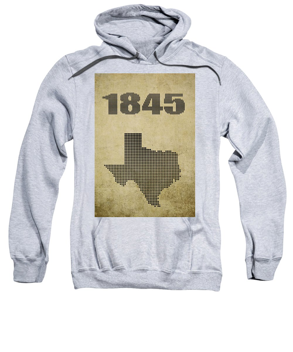 Texas Sweatshirt featuring the digital art Texas Statehood by Daniel Hagerman