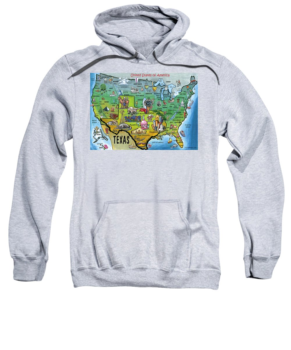 Texas Sweatshirt featuring the painting Texas Usa by Kevin Middleton