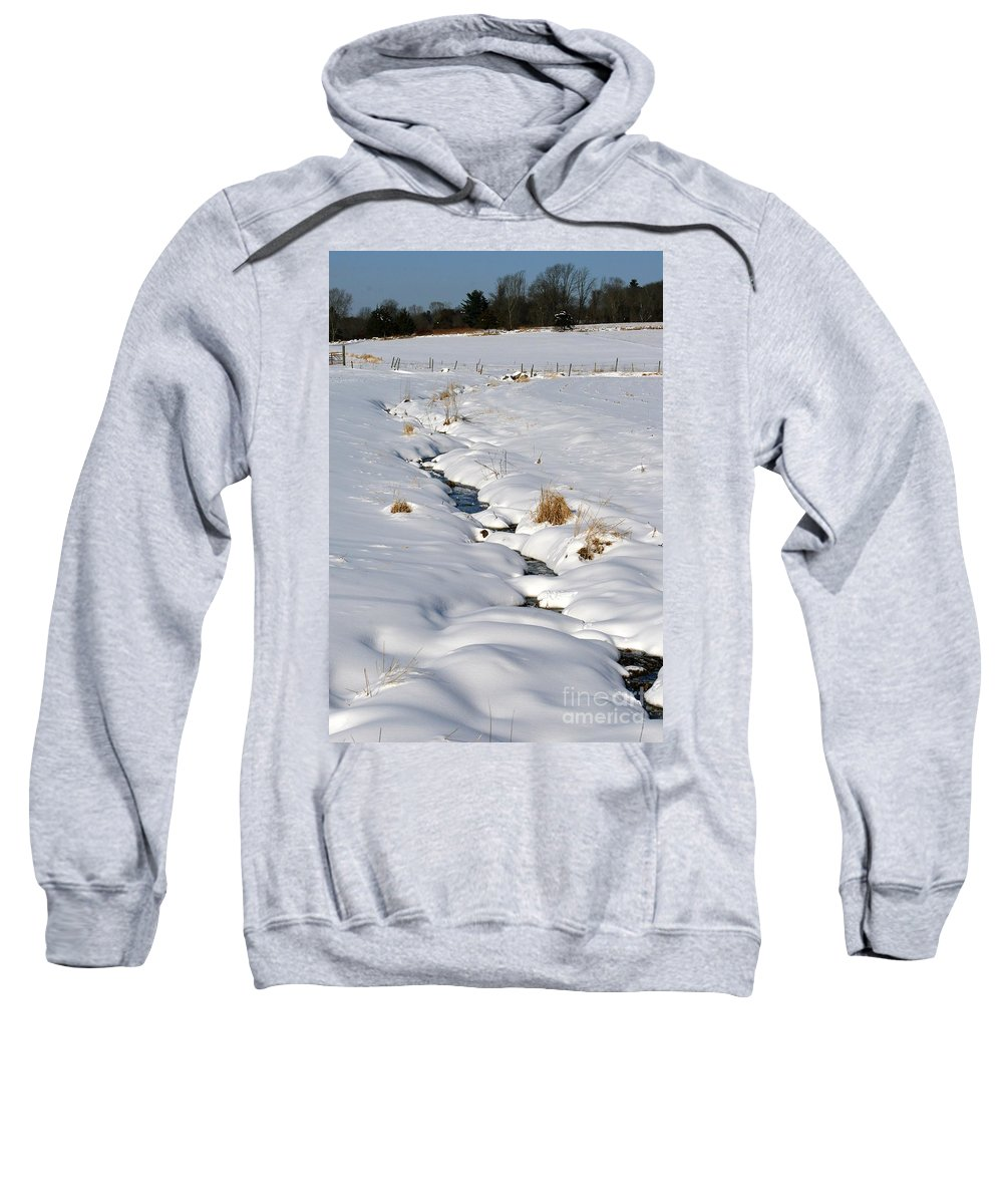 Brook Sweatshirt featuring the photograph Textured Winter Blues by Neal Eslinger