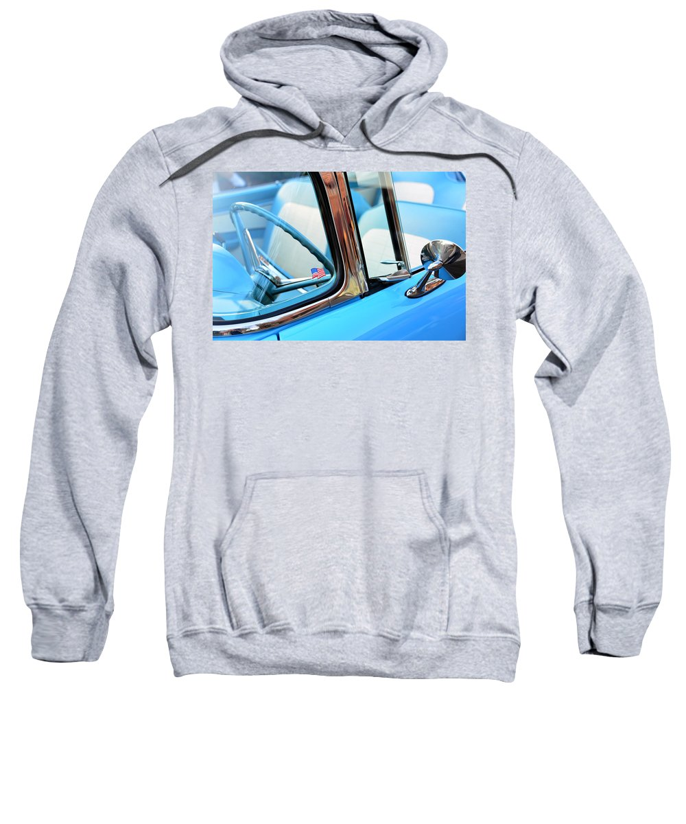 1956 Ford Fairlane Thunderbird Sweatshirt featuring the photograph The American 1956 by David Lee Thompson