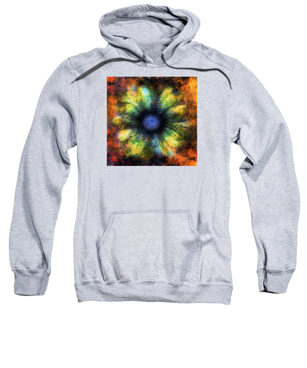 Abstract Sweatshirt featuring the mixed media The Art Of Decay by Georgiana Romanovna