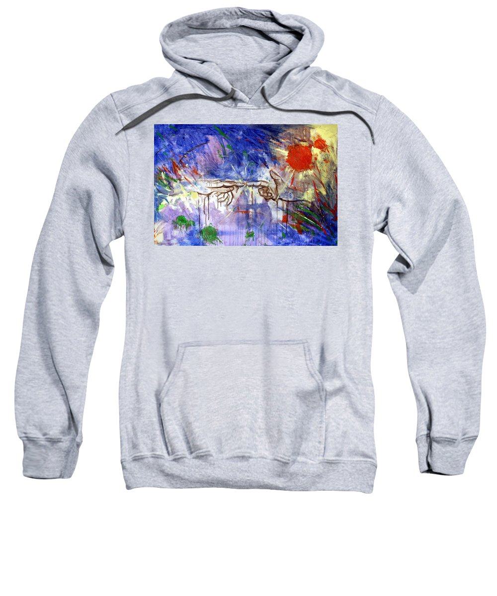 Abstract Sweatshirt featuring the painting The Beginning by Anthony Falbo