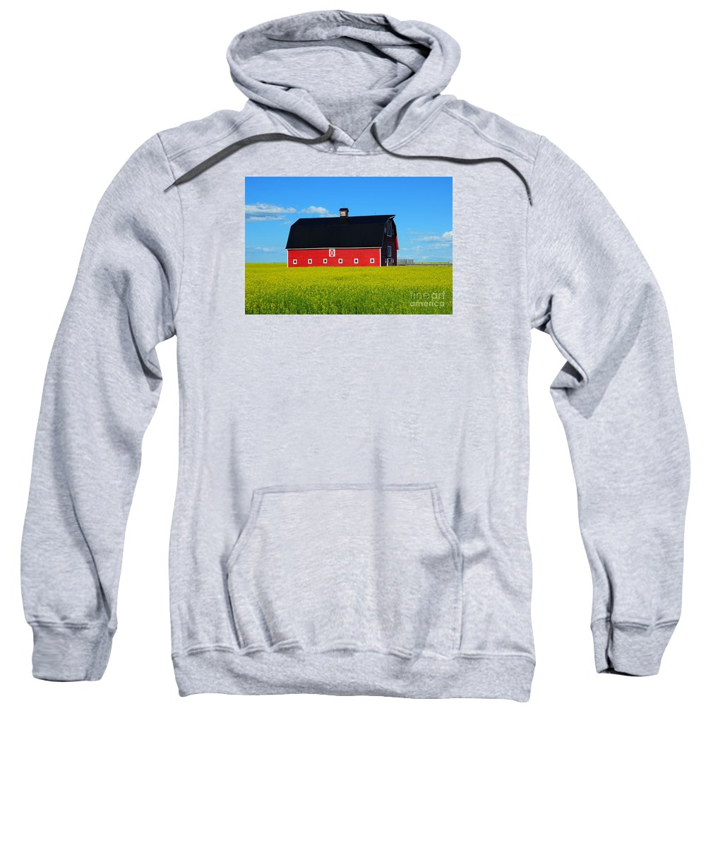 Barn Sweatshirt featuring the photograph The Big Red Barn by Bob Christopher