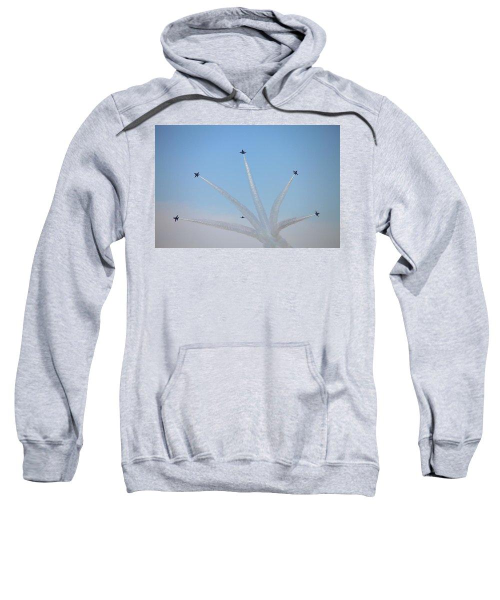 5244 Sweatshirt featuring the photograph The Bomb Burst by Gordon Elwell