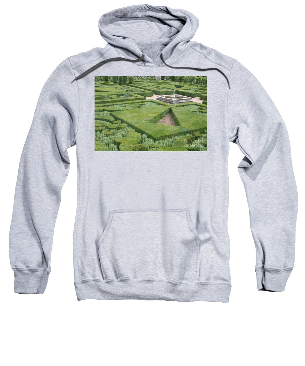 Boxwood Sweatshirt featuring the photograph The Boxwood Garden At Chateau Villandry by Christiane Schulze Art And Photography