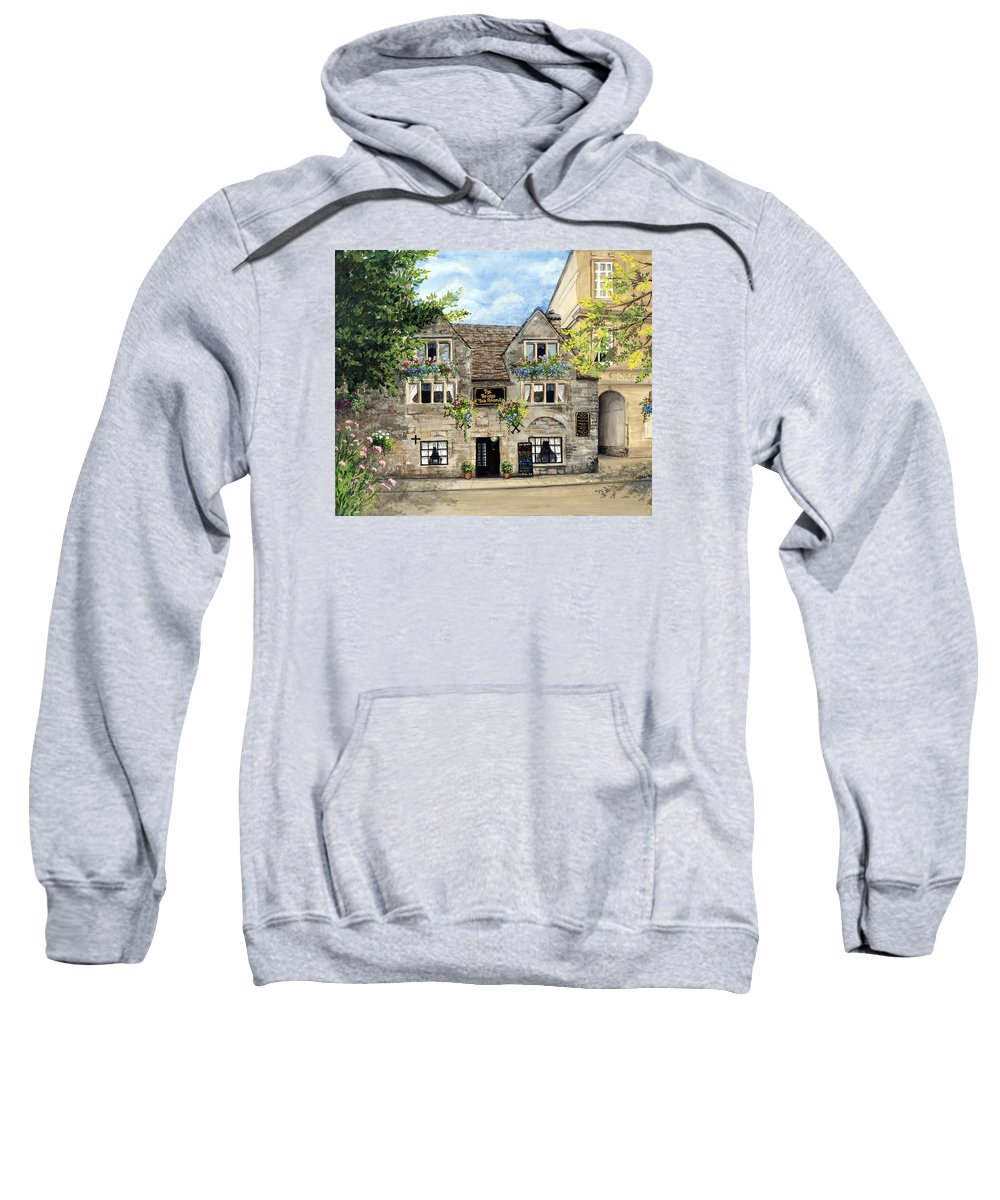 The Bridge Tea Rooms Sweatshirt featuring the painting The Bridge Tea Rooms by Mary Palmer