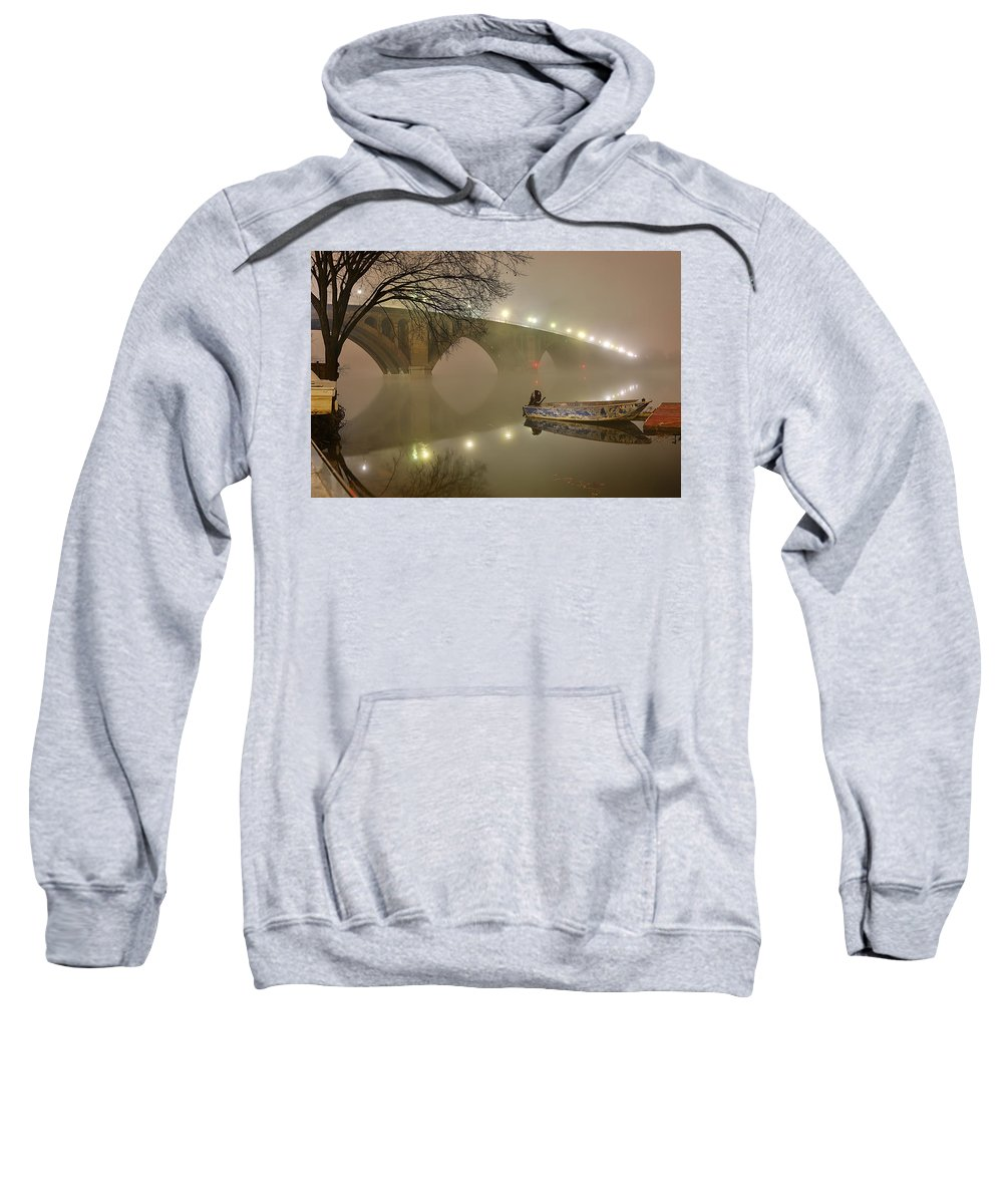 Metro Sweatshirt featuring the photograph The Bridge To Nowhere by Metro DC Photography