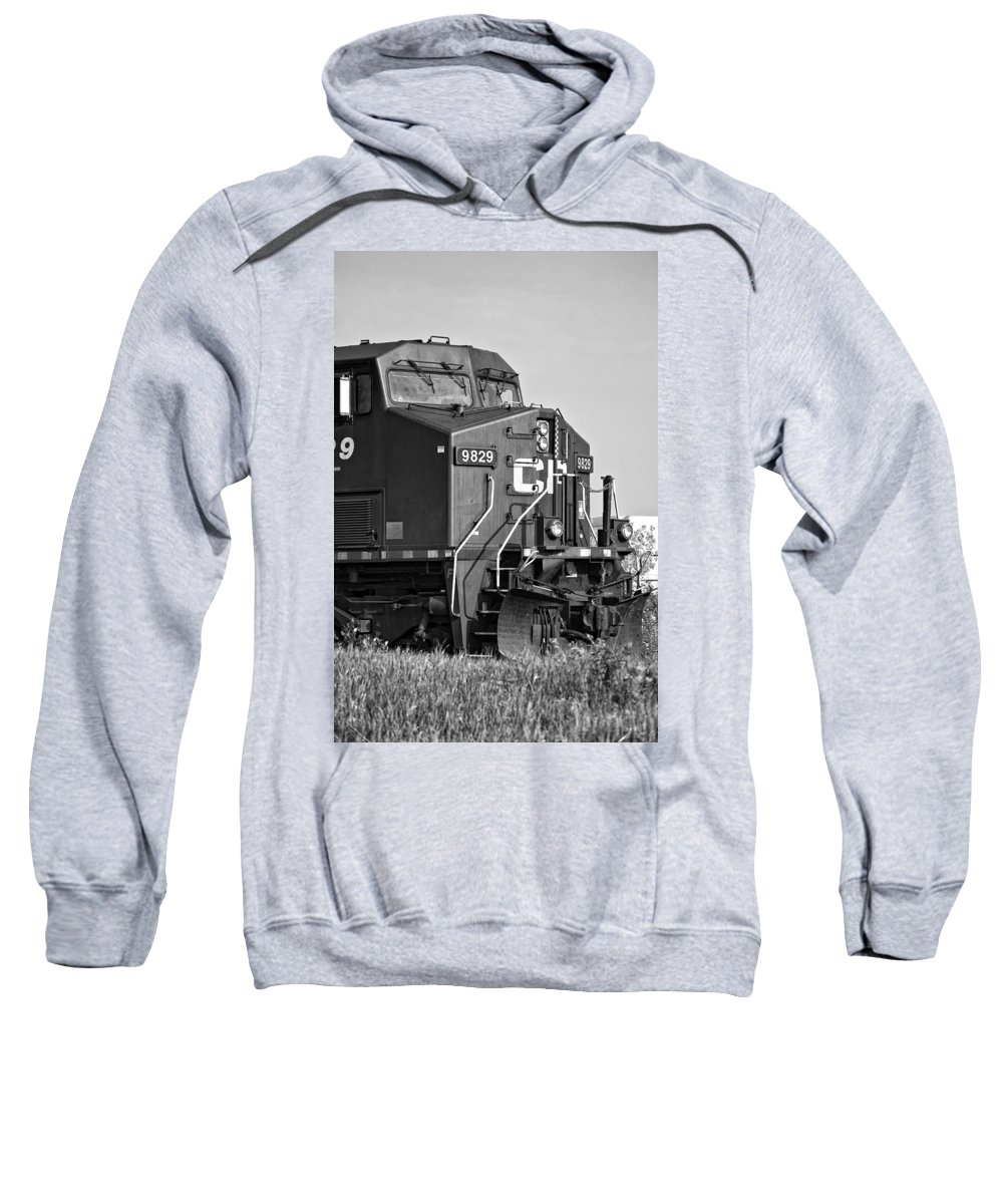 Engine Sweatshirt featuring the photograph The Brute Monochrome by Steve Harrington