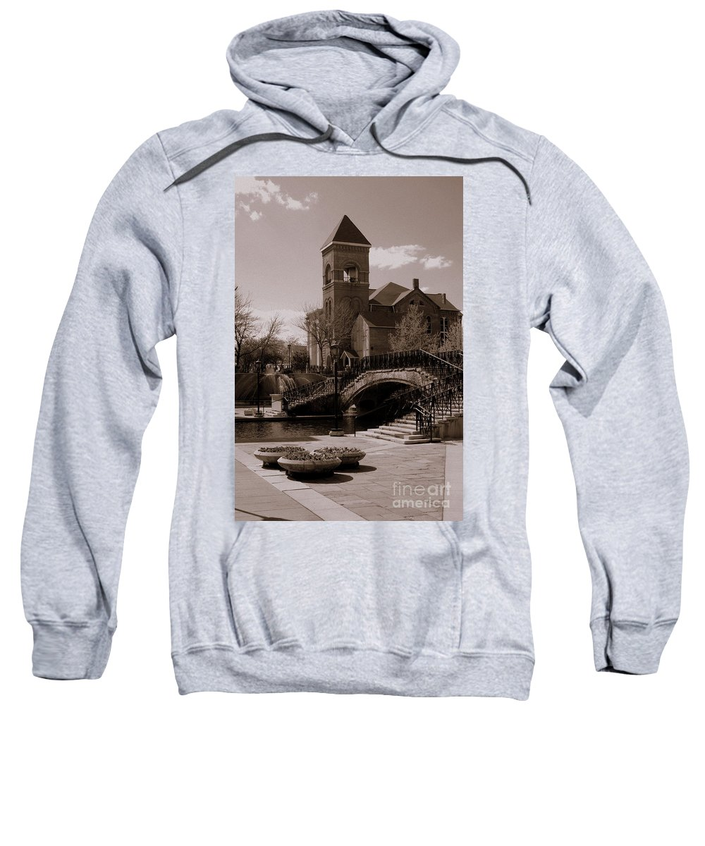 Old Church Indianapolis Indiana Sweatshirt featuring the photograph The Canal by Kitrina Arbuckle