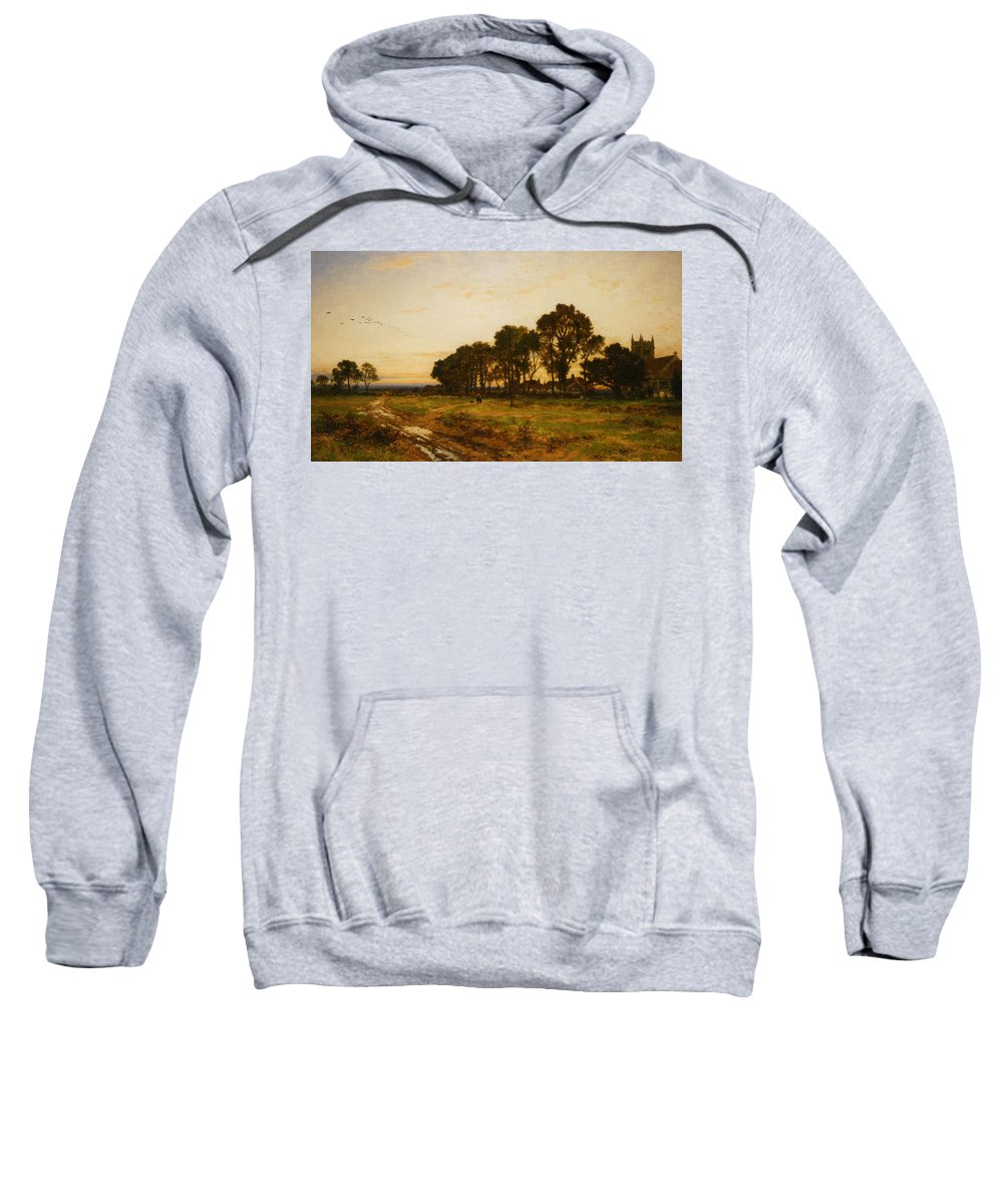 Benjamin Williams Leader Sweatshirt featuring the digital art The Close Of Day Worvestershire Meadows by Benjamin Williams Leader