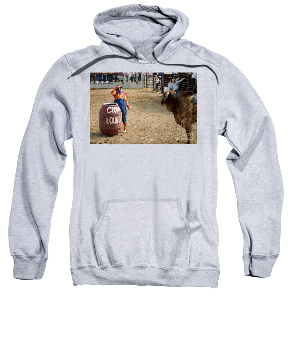 Rodeo Sweatshirt featuring the photograph The Clown by Jerry McElroy