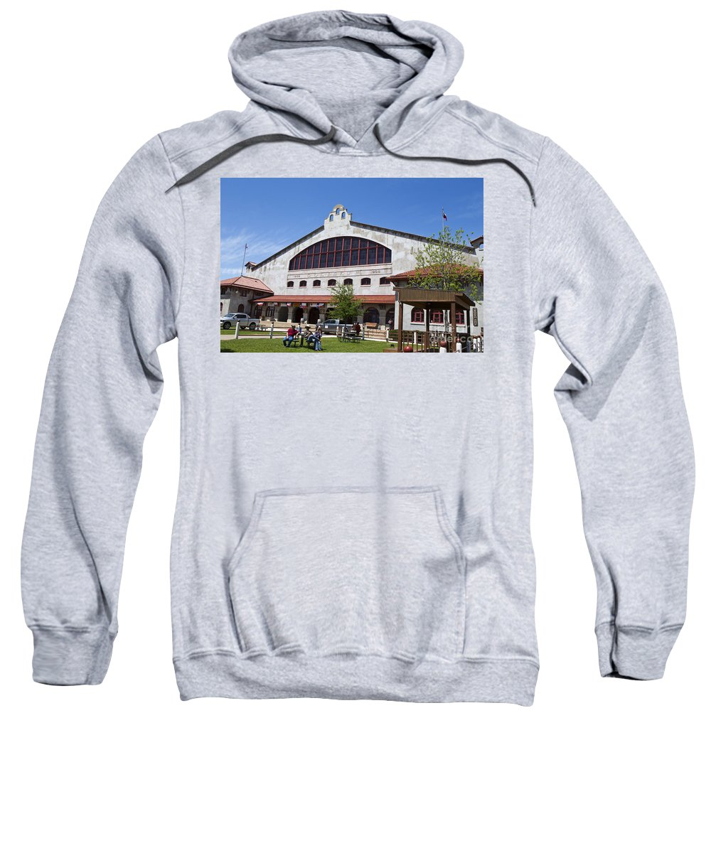 Fort Worth Sweatshirt featuring the photograph The Coliseum Fort Worth Texas by Jason O Watson