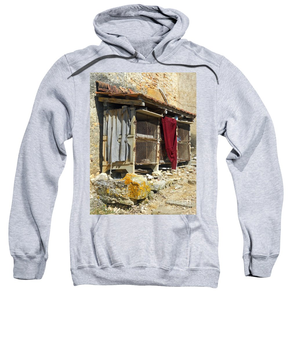 Still Life Sweatshirt featuring the photograph The Coop by Lauren Leigh Hunter Fine Art Photography