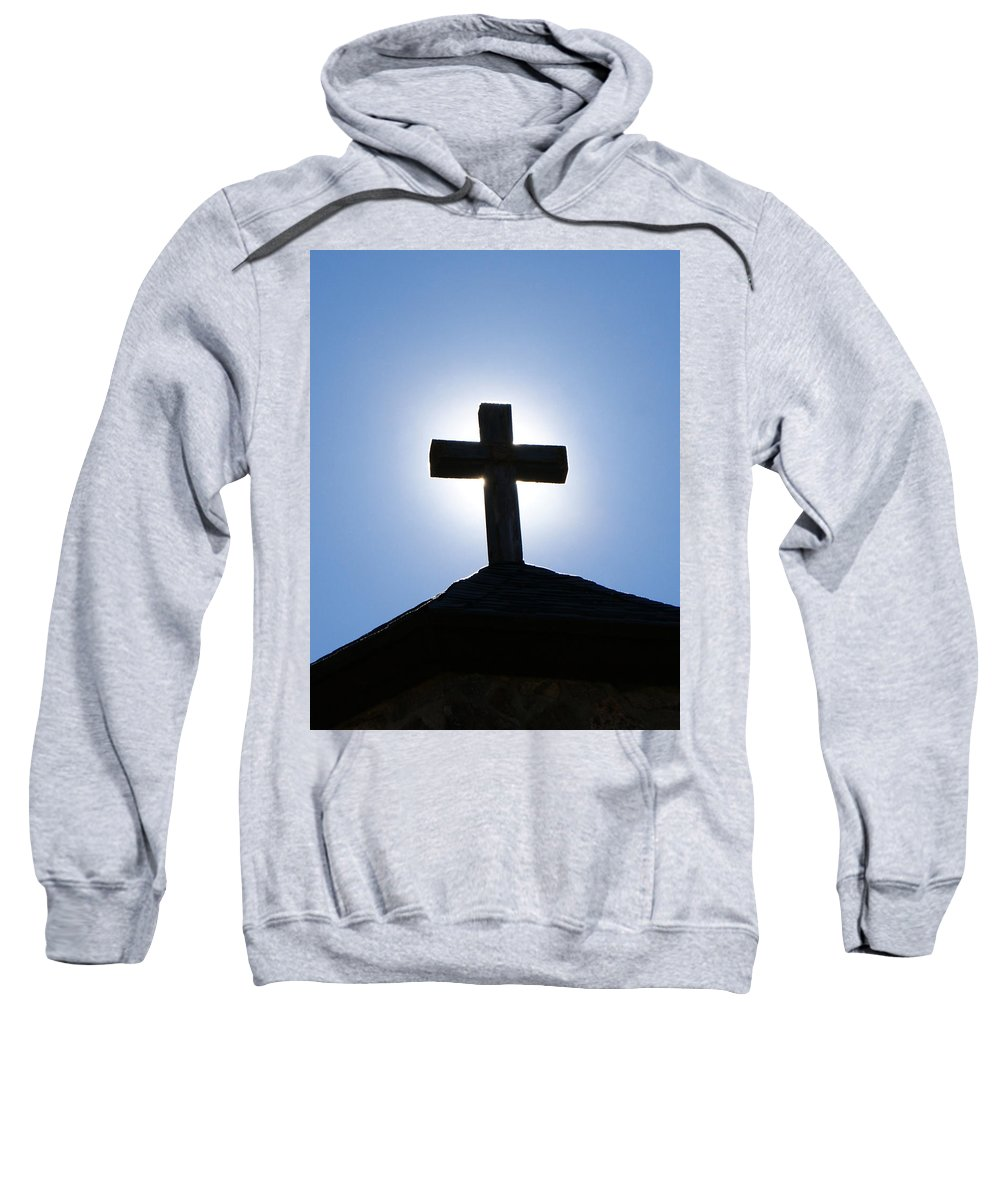 The Cross Sweatshirt featuring the photograph The Cross by Ernie Echols