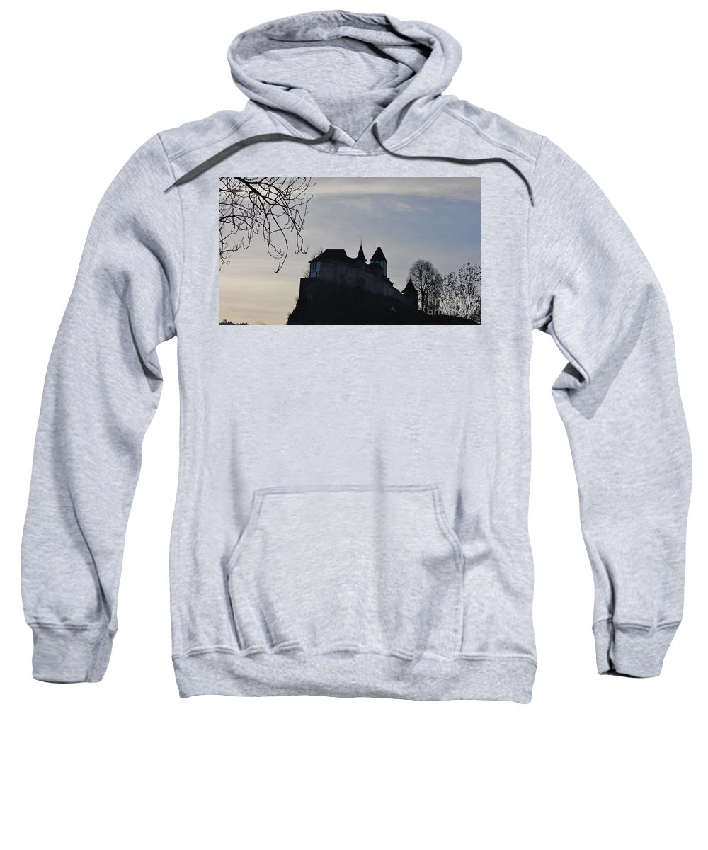 Fortress Sweatshirt featuring the photograph The Dark Side Of The Castle by Felicia Tica