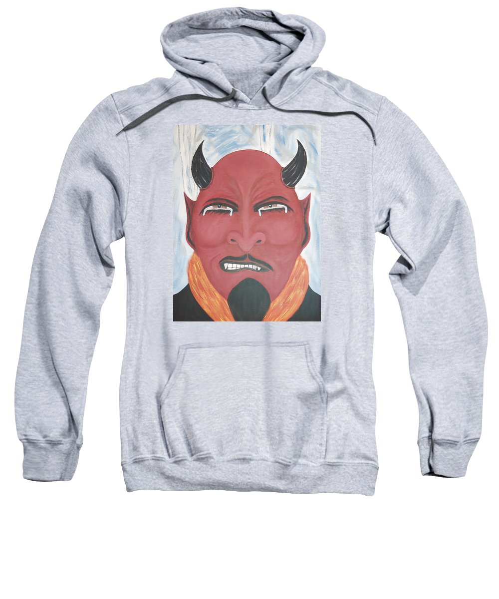 Devil Sweatshirt featuring the painting The Devil Is The Detail by Dean Stephens