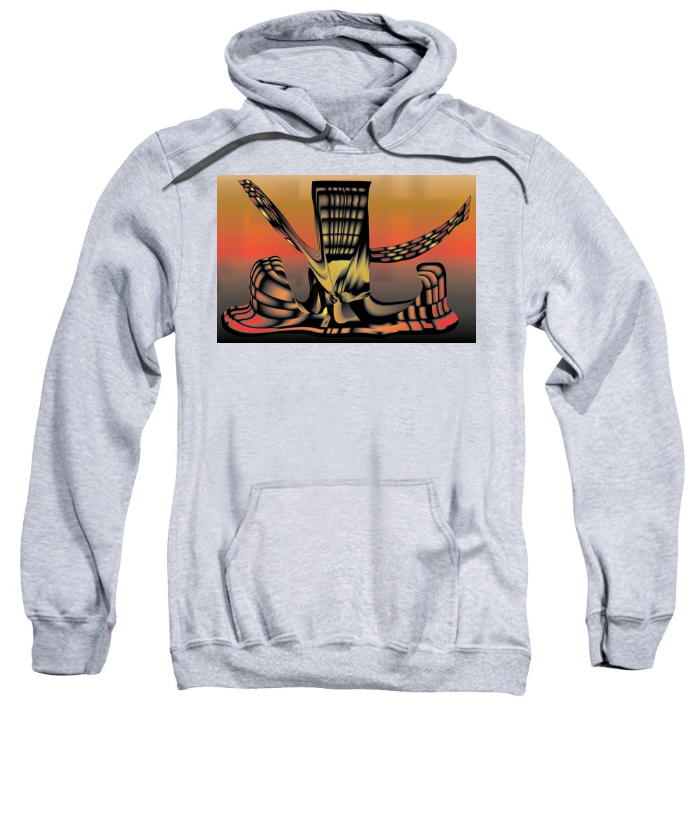 Tree Sweatshirt featuring the digital art The Ember Tree by Kevin McLaughlin