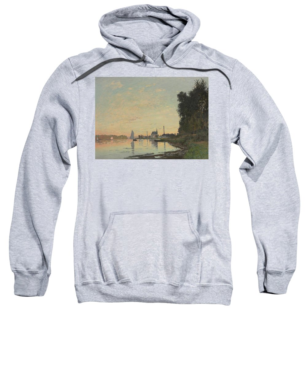 Boat Sweatshirt featuring the painting The End Of The Afternoon by Claude Monet