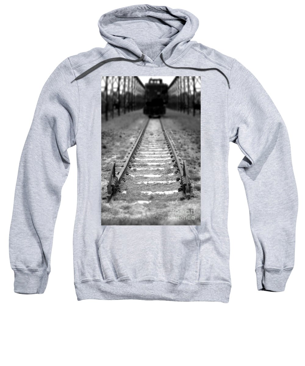 Railroad Sweatshirt featuring the photograph The End Of The Line by Olivier Le Queinec