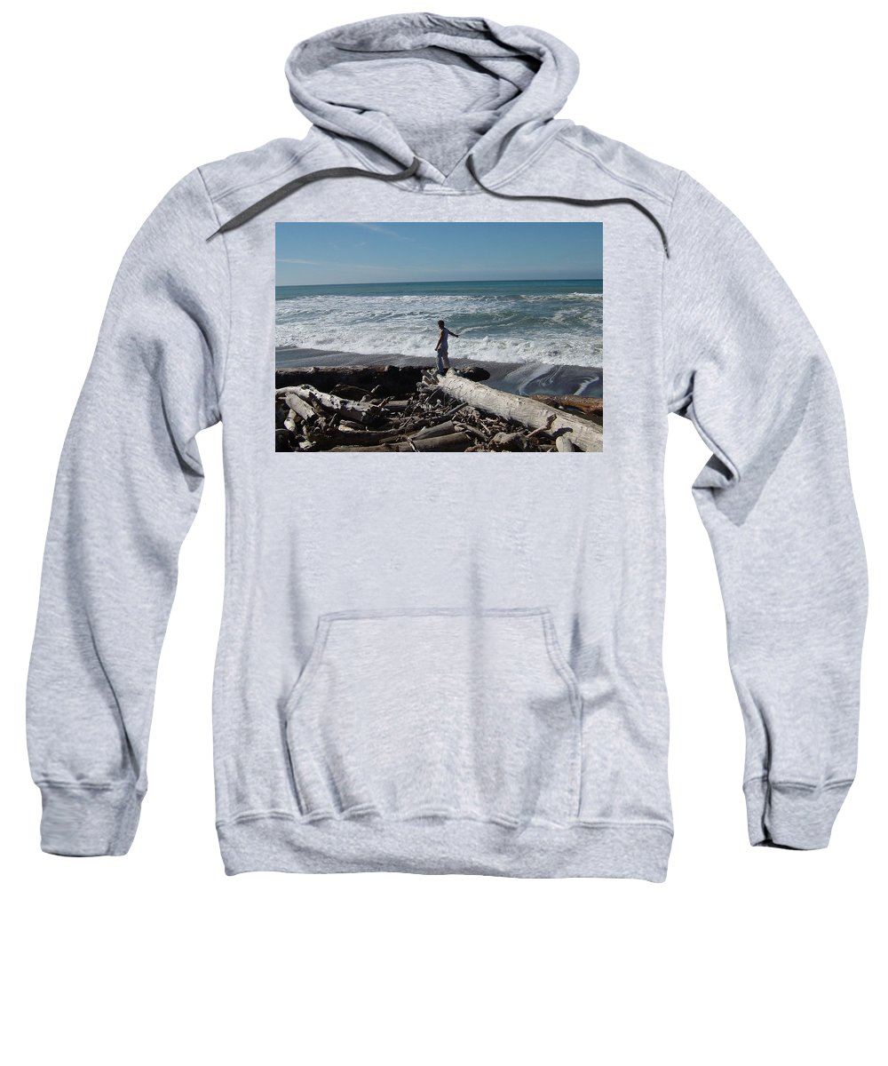 Matt Sweatshirt featuring the photograph The End Of The Line by Susan Wyman