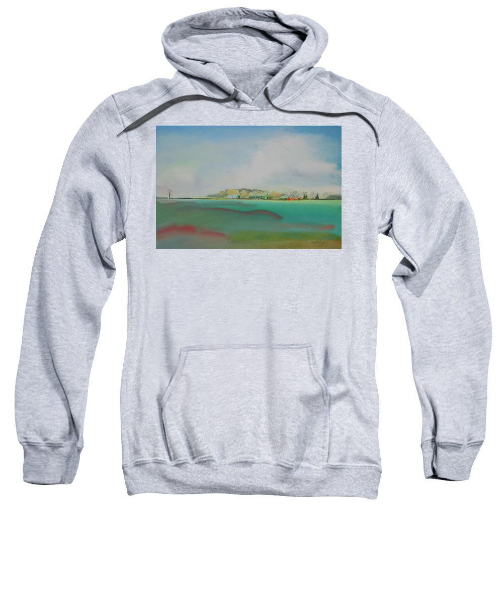 Landscape Sweatshirt featuring the painting The English Farm  A Break In The Cloud by Charles Stuart
