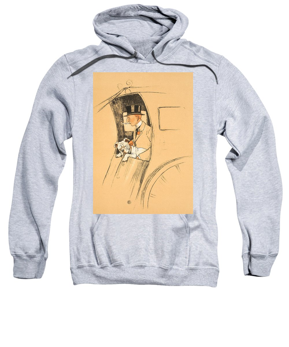 Aldin Sweatshirt featuring the painting The Extra Passenger by Cecil Charles Windsor Aldin