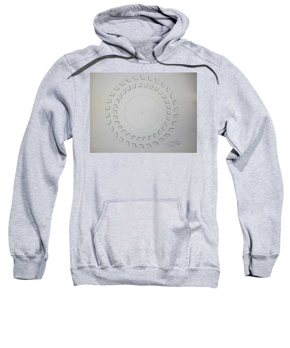 Pi Sweatshirt featuring the drawing The Eye Of Pi by Jason Padgett