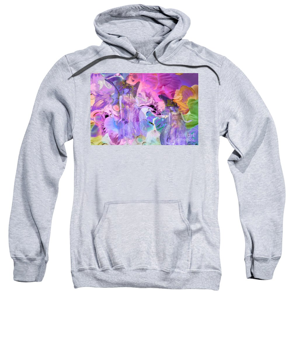Abstract Garden Sweatshirt featuring the photograph The Fairy Garden by Regina Geoghan