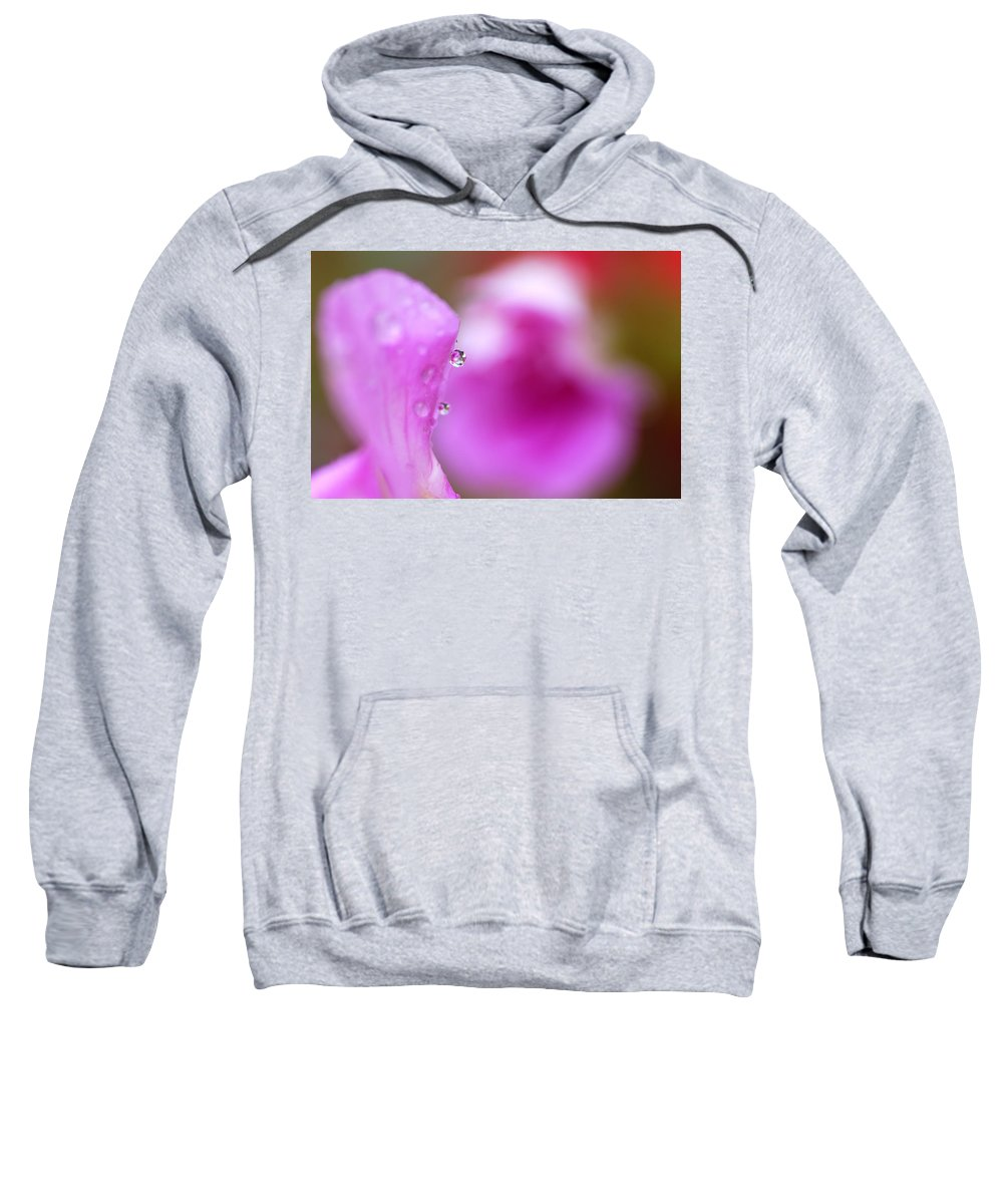 Flower Sweatshirt featuring the photograph The Flower Enclosed In A Small Drop Of Water by Guido Montanes Castillo