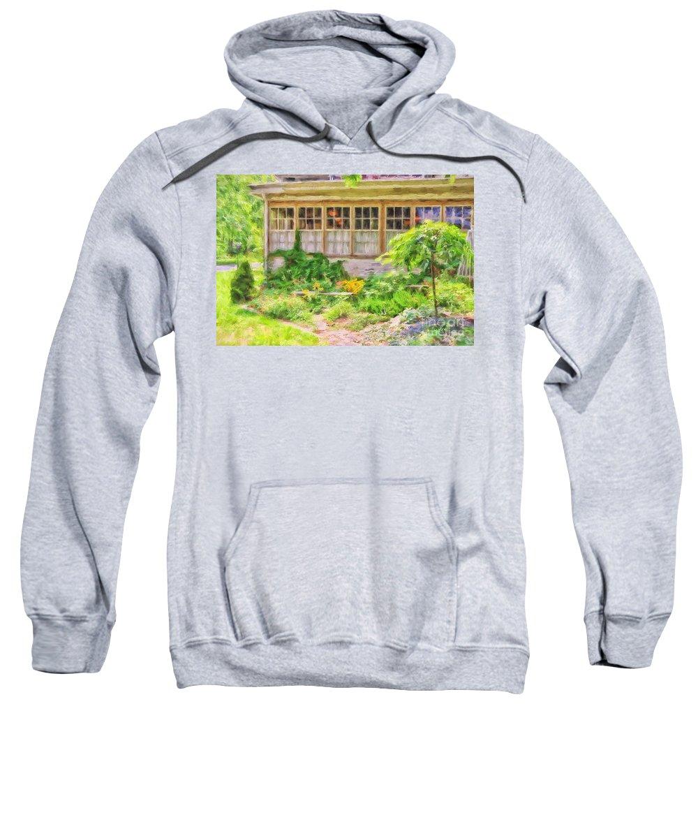Garden Sweatshirt featuring the photograph The Garden At Juniata Crossings by Lois Bryan