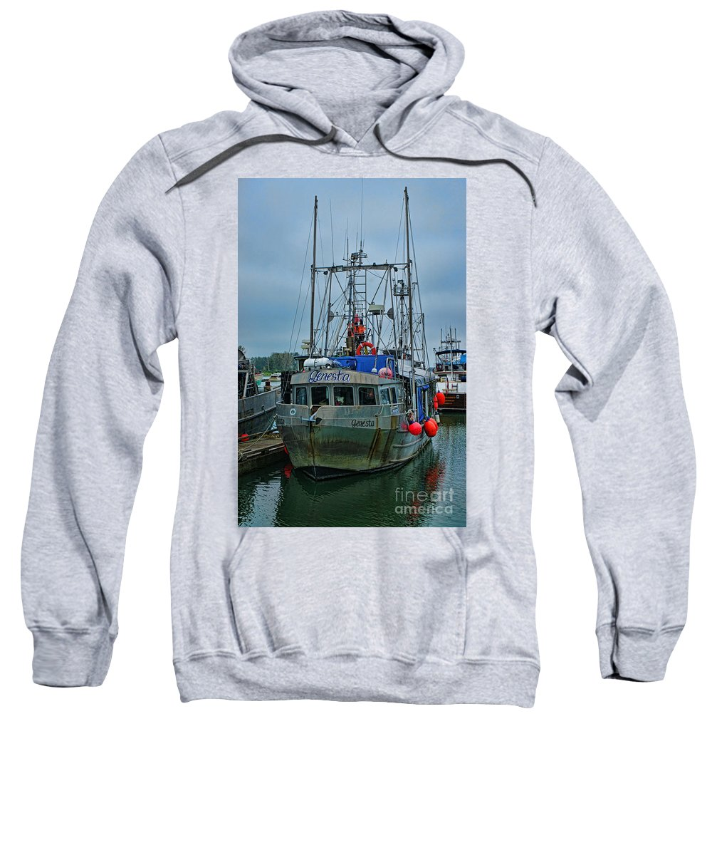Boats Sweatshirt featuring the photograph The Genesta Hdrbt4237-13 by Randy Harris