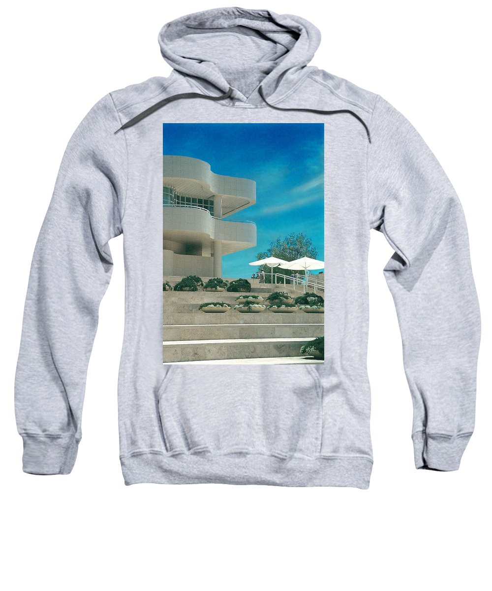 Landscape Sweatshirt featuring the photograph The Getty Panel 1 by Steve Karol