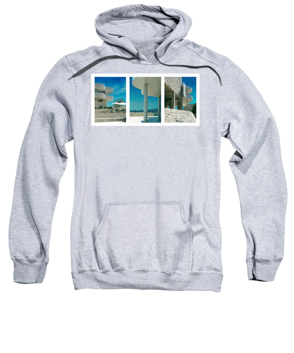 Abstract Sweatshirt featuring the photograph The Getty Triptych by Steve Karol