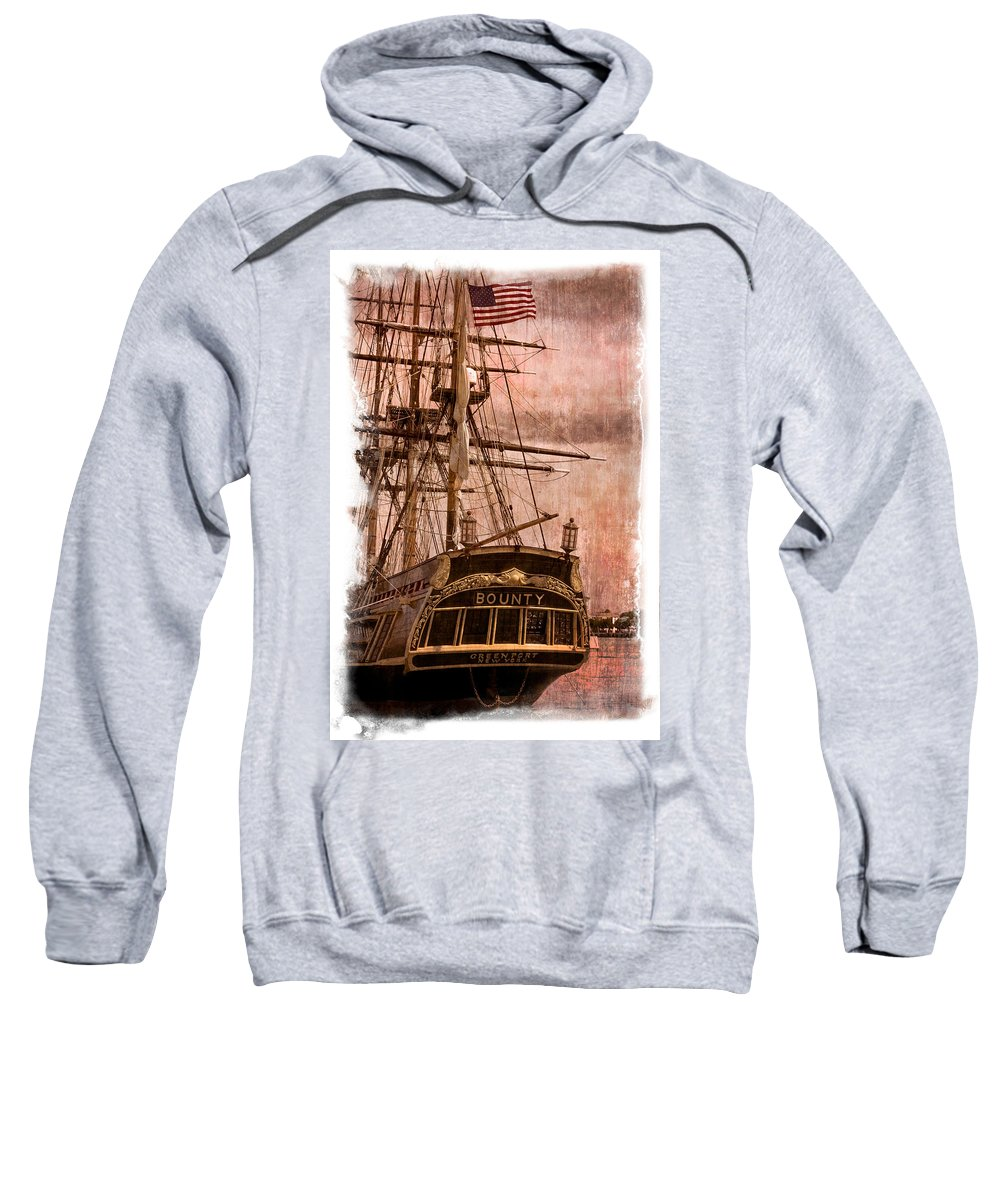 American Sweatshirt featuring the photograph The Gleaming Hull Of The Hms Bounty by Debra and Dave Vanderlaan