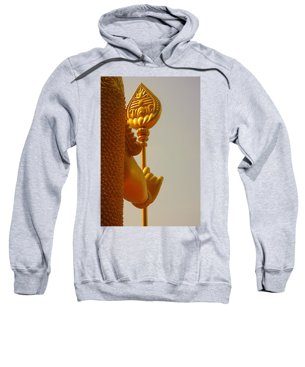 Statue Sweatshirt featuring the photograph The God On His Quard by SilkAndPaper Art