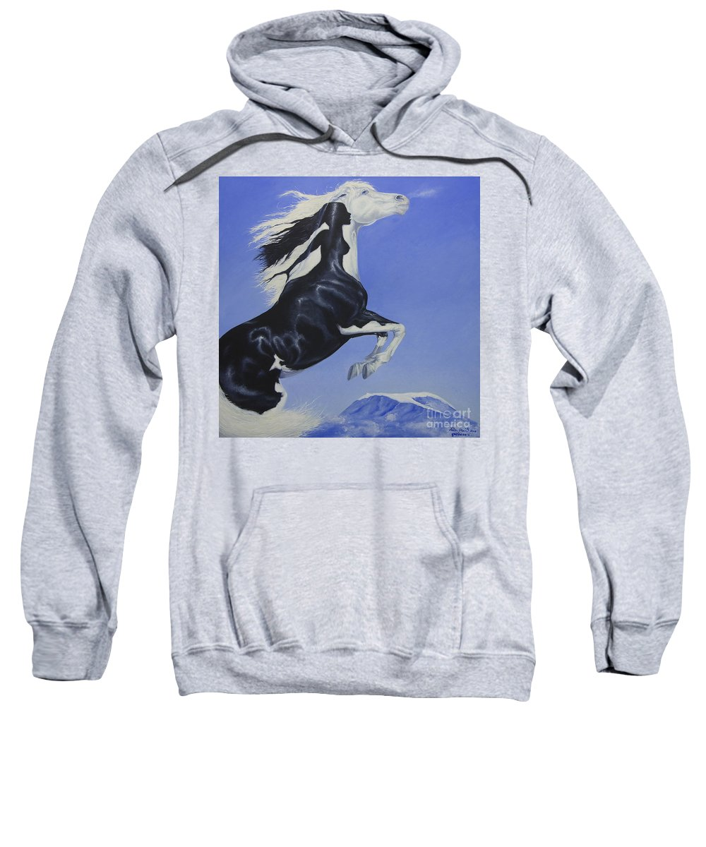 Paint Sweatshirt featuring the painting The Goddess Within by Louise Green