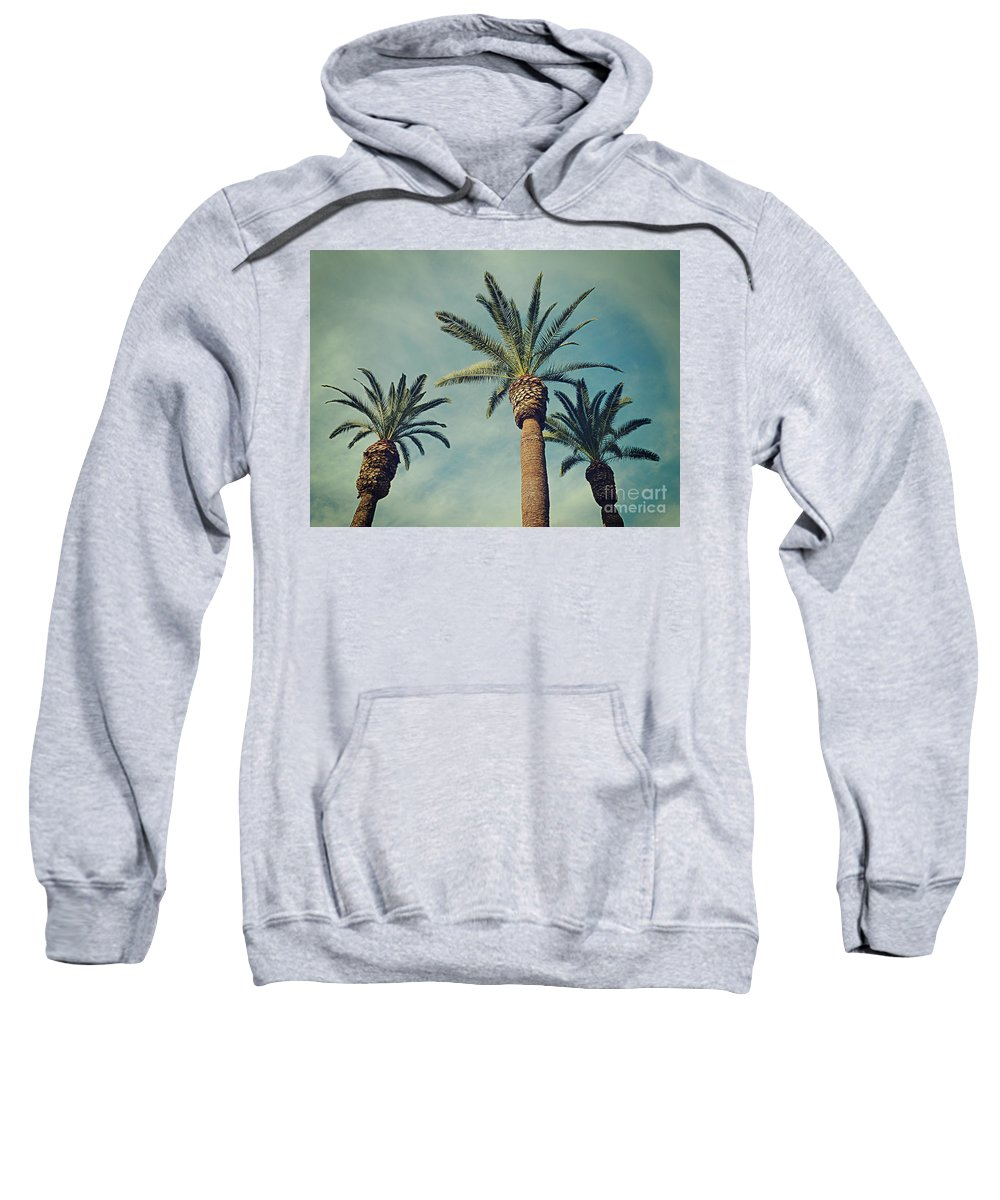 Palm Tree Sweatshirt featuring the photograph The Gossips2 by Meghan at FireBonnet Art
