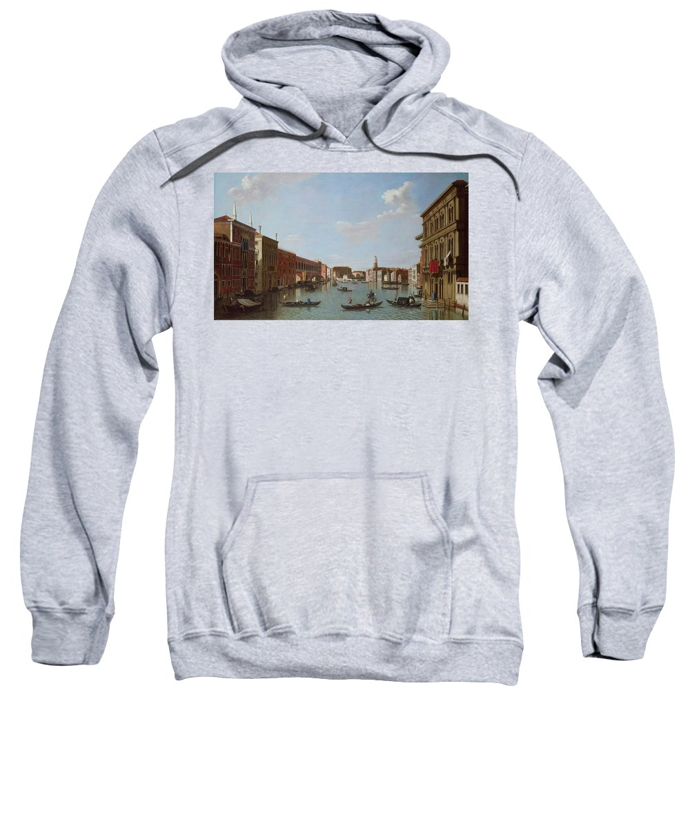 Architecture Sweatshirt featuring the photograph The Grand Canal And San Geremia, Venice, 18th Century by William James