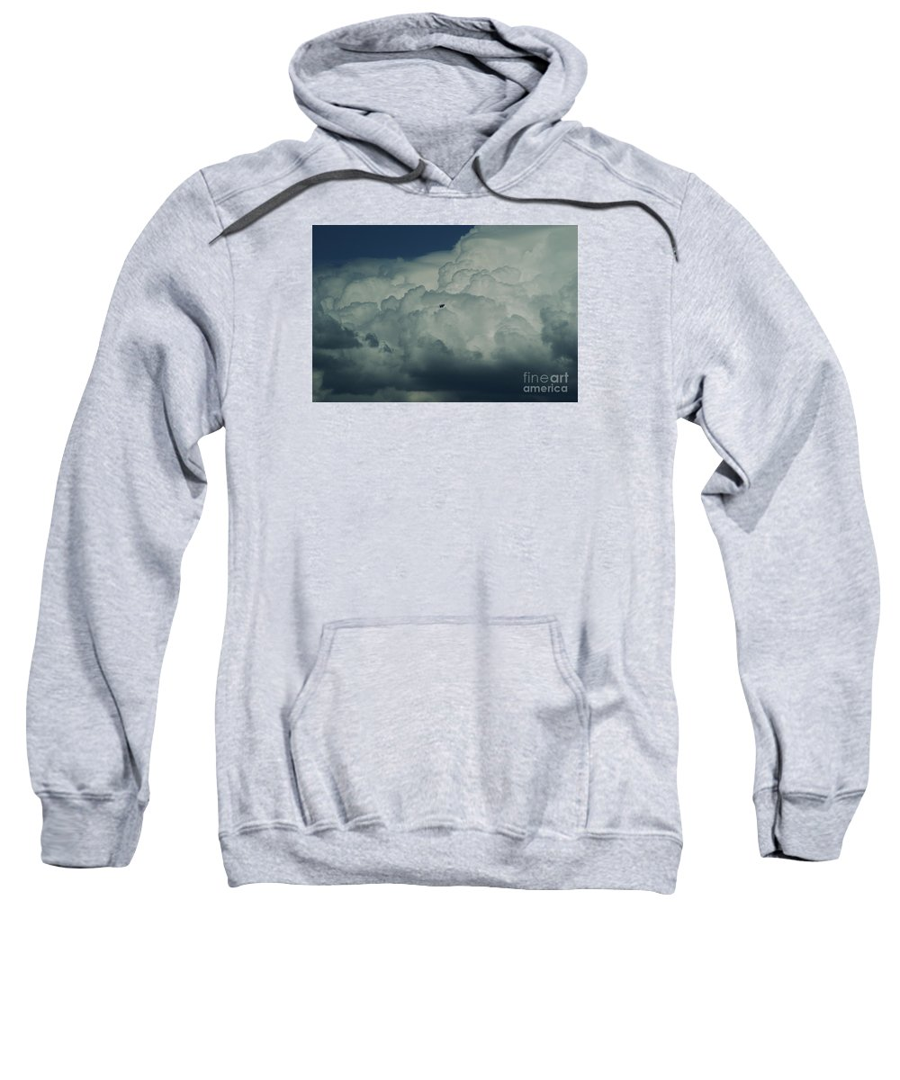 Cloud Sweatshirt featuring the photograph The Great Escape by Linda Shafer