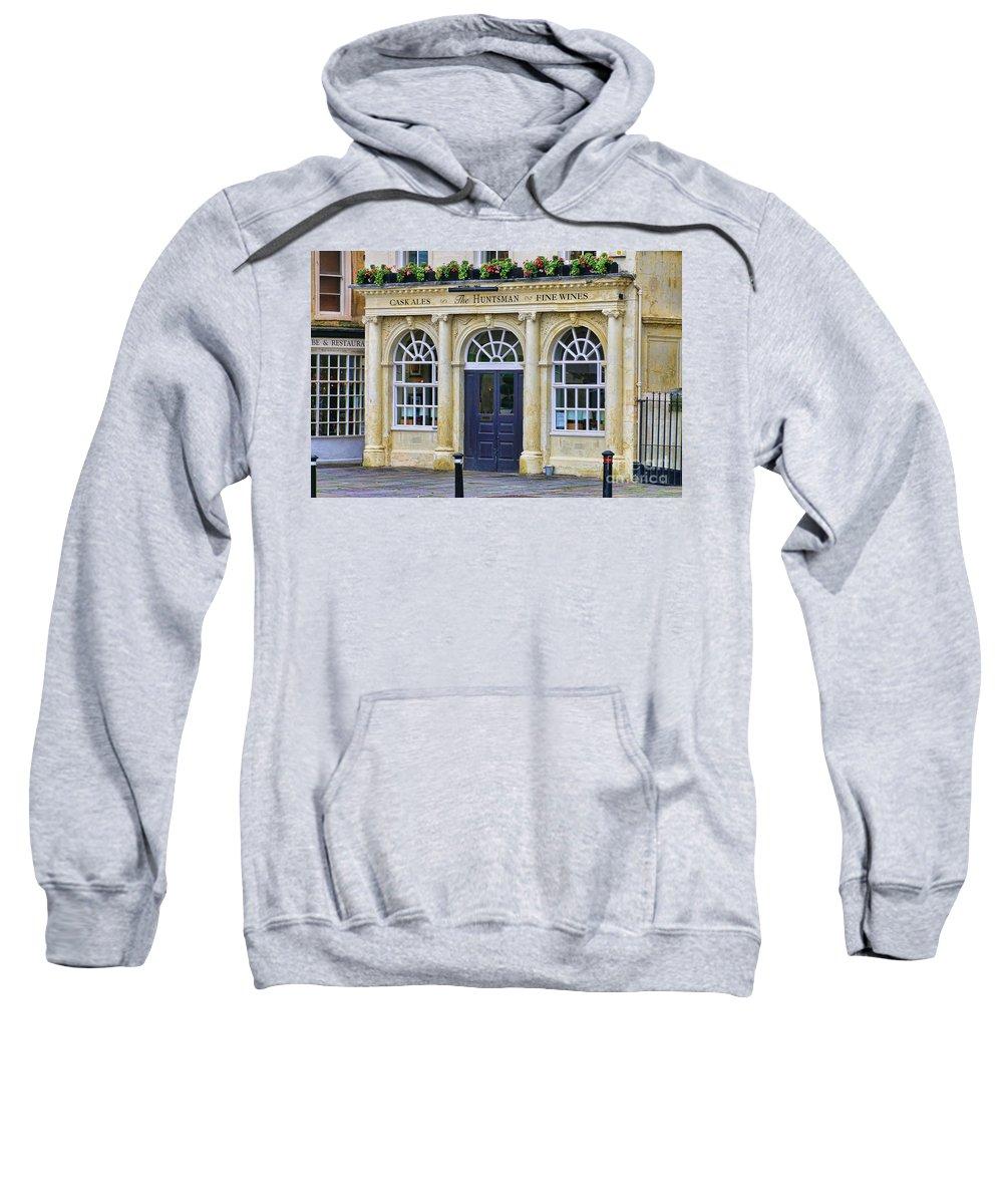 The Huntsman Sweatshirt featuring the photograph The Huntsman Pub In Bath 8456 by Jack Schultz