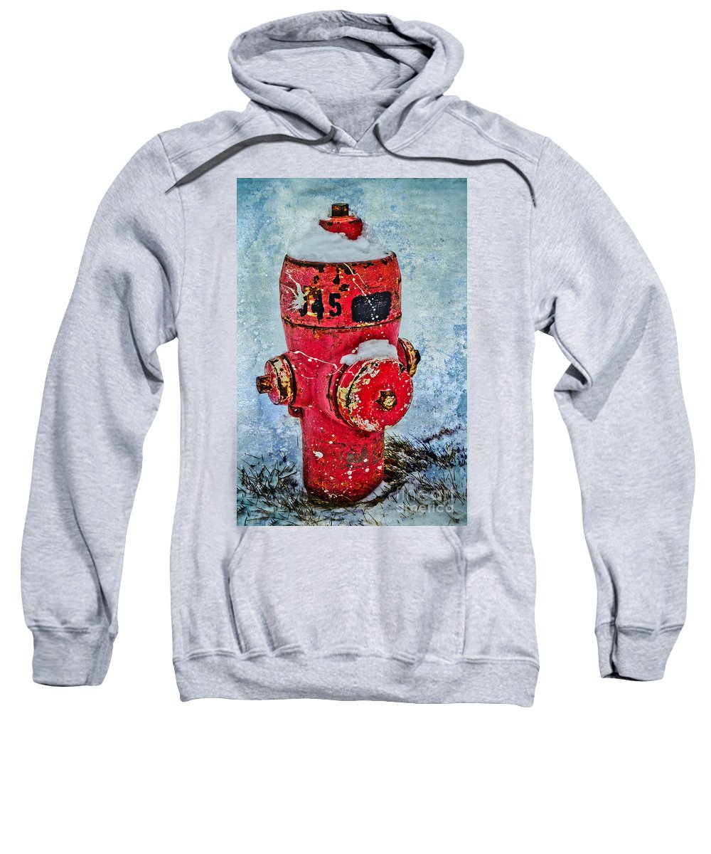 Fire Sweatshirt featuring the photograph The Hydrant by Tara Turner